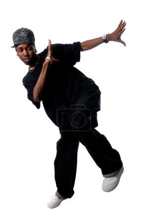 Cool young hip-hop man