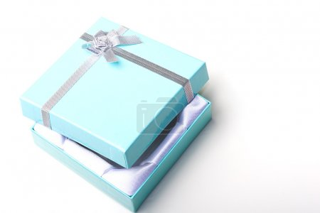 Beautiful jewelry gift box with open top