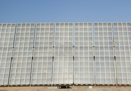 Photo for A mega module solar array at the Solar Research Center in Phoenix Arizona - Royalty Free Image