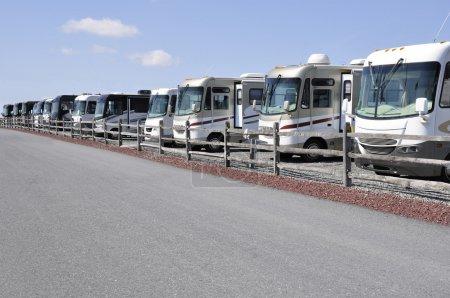 Many recreation vehicles