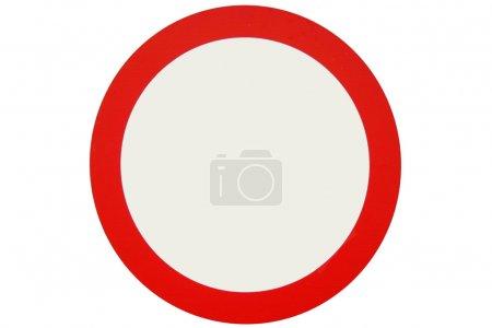 Photo pour Une image d'un cercle rouge pour l'utilisation des signes - image libre de droit