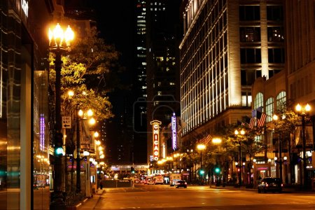 Photo for Downtown Chicago at nighttime - Royalty Free Image