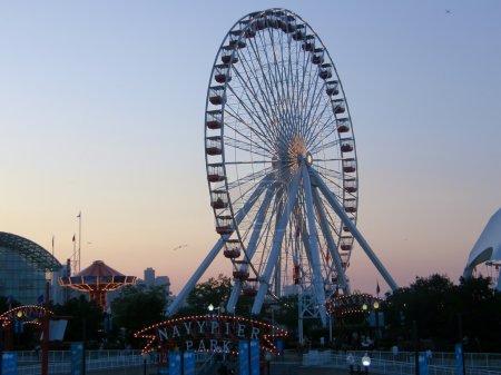 Navy Pier park and ferris wheel