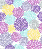 Chrysanthemum Flowers Seamless Repeat Pattern- #2 in A Walk in the Park Design Collection Series- Vector Illustration