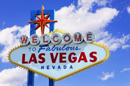 Photo for Colorful picture of the Welcome to Fabulous Las Vegas sign. - Royalty Free Image