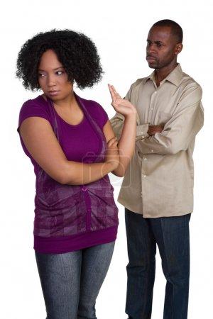 Fighting Black Couple