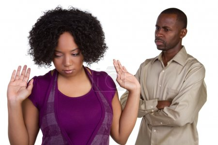 Photo for Angry african american couple fighting - Royalty Free Image