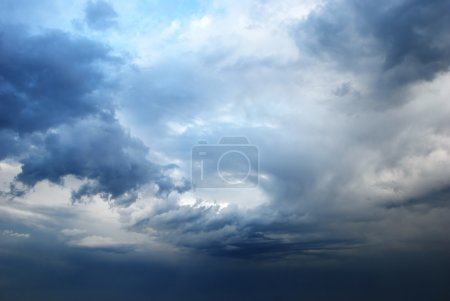Stormy sky making a background