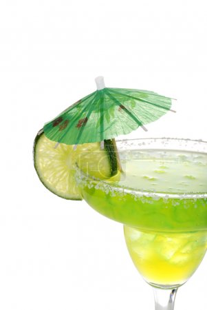 Closeup margarita with lime