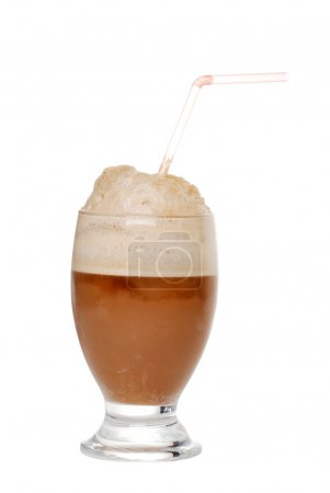 Cola ice cream float