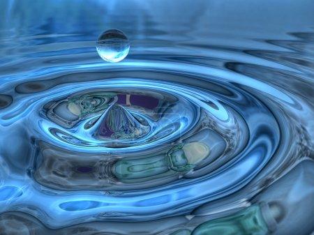 3d drop of water...