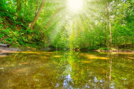 Fall Creek Nature Preserve in western Indiana. HDR...
