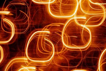 Photo pour Image de fond abstraite montrant des lumières en mouvement - image libre de droit