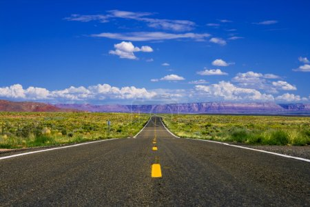 Photo for Straight empty highway in Arizona desert - Royalty Free Image