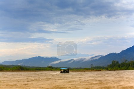 Photo for Early morning light on Manu River in Manu National Park, Peru - Royalty Free Image
