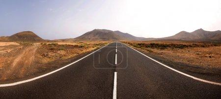 Endless road panorama