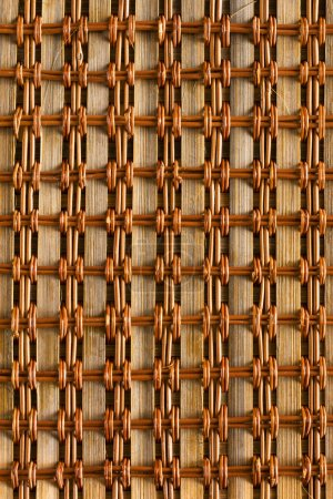 Background of rustic interlaced straw