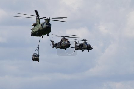 A helicopter formation