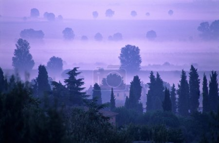 aube en Toscane