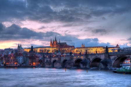 Prague castle at night - HDR photo