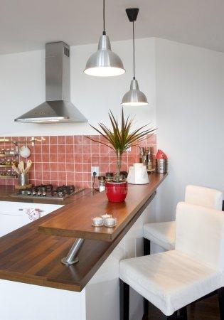 Photo pour Intérieur de la nouvelle cuisine moderne - image libre de droit