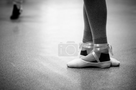 Photo for A ballet dancers feet on point - Royalty Free Image