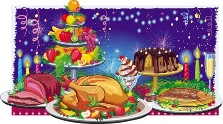 Illustration for Holiday dinner - Royalty Free Image