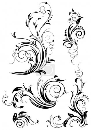 Illustration for Set of floral design elements - Royalty Free Image