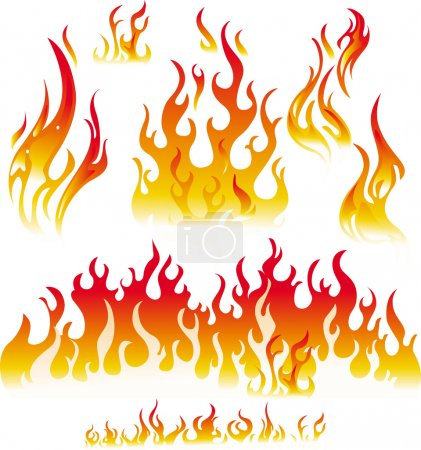 Illustration for Fire graphic elements - Royalty Free Image