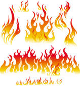 Fire graphic elements