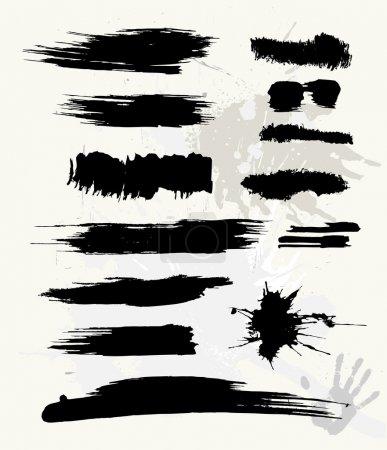 Illustration pour Jeu de brosse grunge - image libre de droit