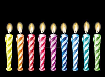 Illustration pour Bougies d'anniversaire - image libre de droit