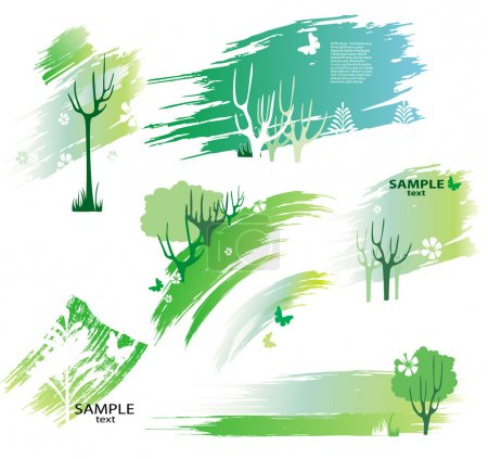 Illustration for Green design elements - Royalty Free Image
