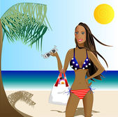 Patriotic Swimsuit Girl 1
