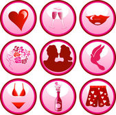 9 Vector Icon Buttons for Valentine's day or love