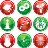 Nine Christmas Icons Buttons 1