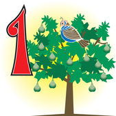 Vector Illustration of the 12 days of Christmas Can also be used for counting