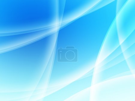 Photo for Abstract composition with curves, lines, gradients blue - Royalty Free Image