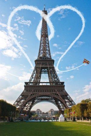 Paris Eiffel Tower France during a sunset