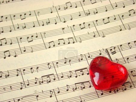 Music score & heart