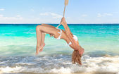Woman on a swing