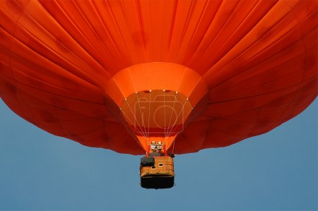 An orange hotair balloon