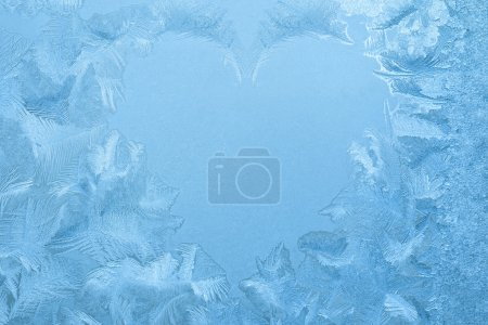 Ice crystals shape of heart