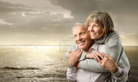 Photo for Senior couple and sunset - Royalty Free Image