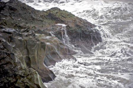 Iceland rocky coastline