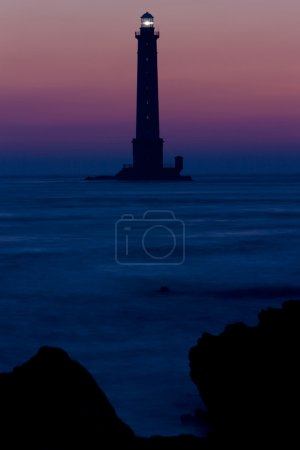 Photo pour Phare, Cap de la Hague, Normandie, France - image libre de droit