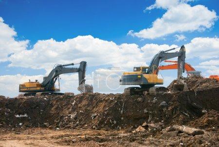 Working excavators