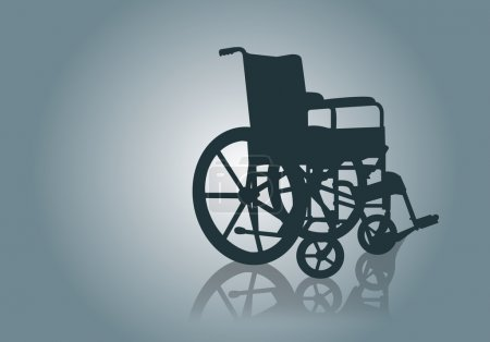 Illustration pour Image vectorielle Fauteuil roulant - image libre de droit