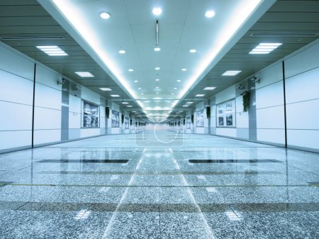 Photo for Entrance of subway / Long corridor - Royalty Free Image