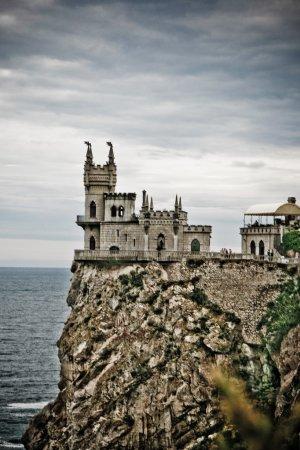 Pretty castle on a rocky hill